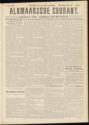 Alkmaarsche Courant 1905-11-25