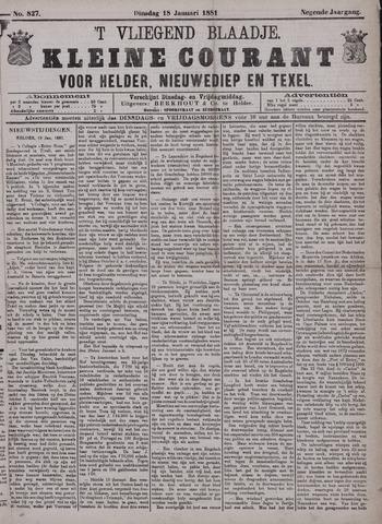 Vliegend blaadje : nieuws- en advertentiebode voor Den Helder 1881-01-18