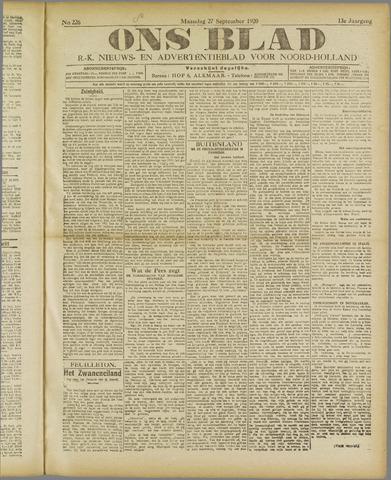 Ons Blad : katholiek nieuwsblad voor N-H 1920-09-27