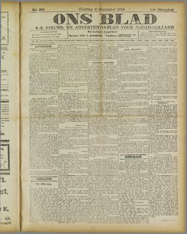 Ons Blad : katholiek nieuwsblad voor N-H 1919-12-09
