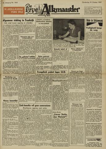 De Vrije Alkmaarder 1947-10-16