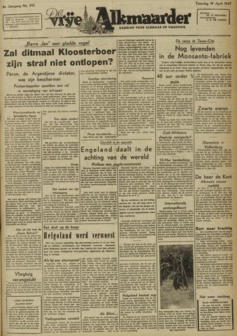 De Vrije Alkmaarder 1947-04-20