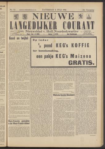 Nieuwe Langedijker Courant 1932-07-02