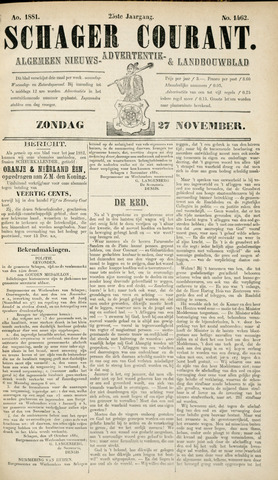 Schager Courant 1881-11-27