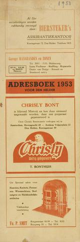 Adresboek van Den Helder 1953-01-01