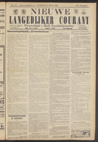 Nieuwe Langedijker Courant 1930-06-03