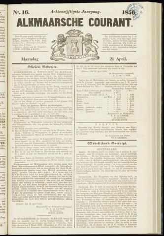 Alkmaarsche Courant 1856-04-21