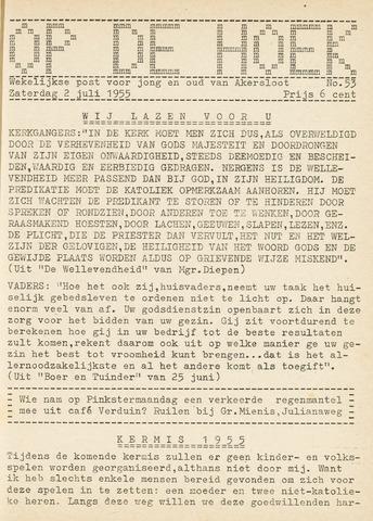 Op De Hoek, weekblad voor Akersloot 1955-07-02