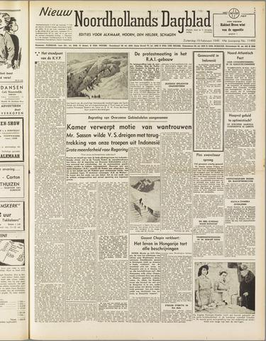 Nieuw Noordhollandsch Dagblad : voor Alkmaar en omgeving 1949-02-19