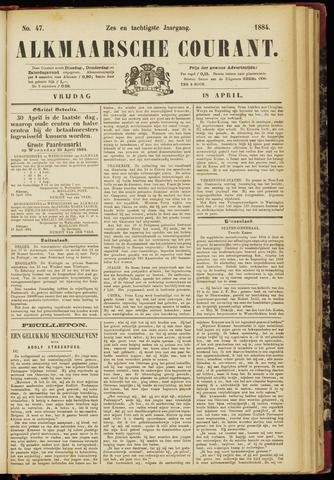 Alkmaarsche Courant 1884-04-18