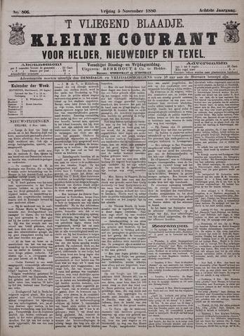 Vliegend blaadje : nieuws- en advertentiebode voor Den Helder 1880-11-05