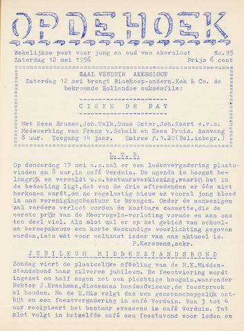 Op De Hoek, weekblad voor Akersloot 1956-05-12