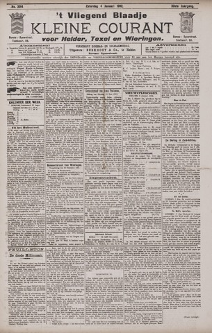 Vliegend blaadje : nieuws- en advertentiebode voor Den Helder 1902-01-04