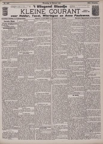 Vliegend blaadje : nieuws- en advertentiebode voor Den Helder 1912-02-28