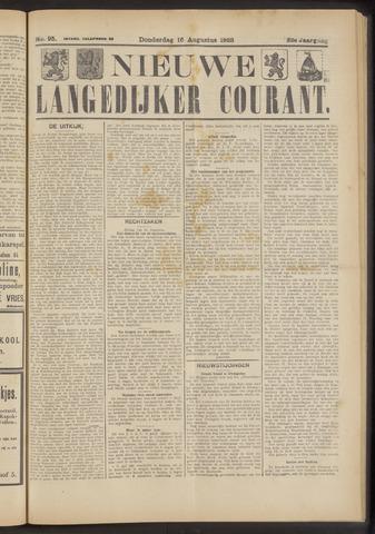 Nieuwe Langedijker Courant 1923-08-16