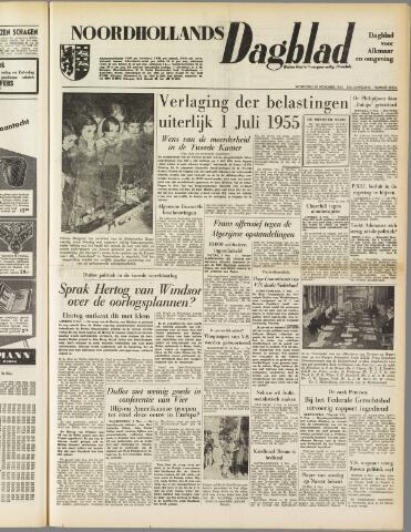 Noordhollands Dagblad : dagblad voor Alkmaar en omgeving 1954-11-10