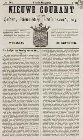 Nieuwe Courant van Den Helder 1864-11-30