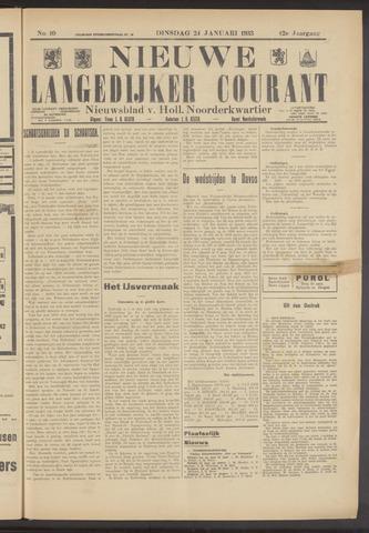 Nieuwe Langedijker Courant 1933-01-24
