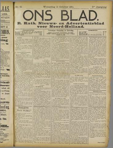 Ons Blad : katholiek nieuwsblad voor N-H 1911-10-11