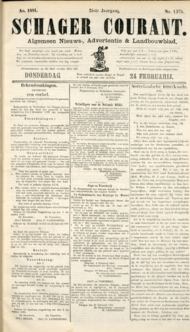 Schager Courant 1881-02-24