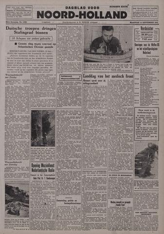 Dagblad Noord-Holland, Schager editie 1942-09-14