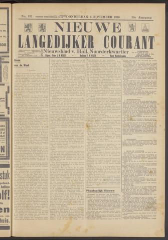 Nieuwe Langedijker Courant 1930-11-06