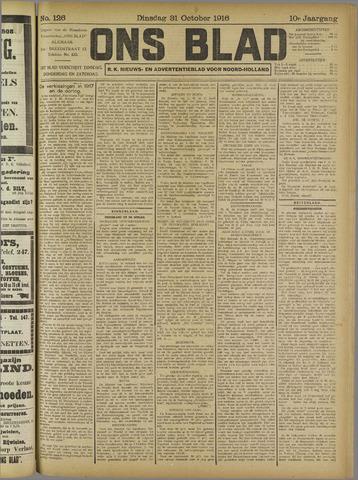 Ons Blad : katholiek nieuwsblad voor N-H 1916-10-31