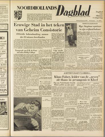 Noordhollands Dagblad : dagblad voor Alkmaar en omgeving 1953-01-13