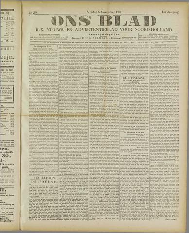 Ons Blad : katholiek nieuwsblad voor N-H 1920-11-05
