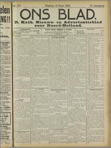 Ons Blad : katholiek nieuwsblad voor N-H 1913-09-16