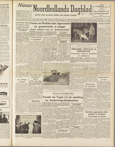 Nieuw Noordhollandsch Dagblad : voor Alkmaar en omgeving 1949-04-12