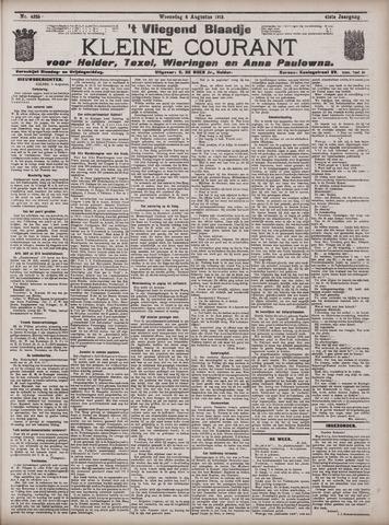 Vliegend blaadje : nieuws- en advertentiebode voor Den Helder 1913-08-06