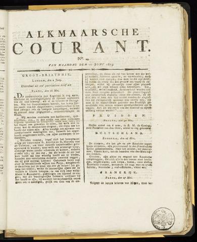 Alkmaarsche Courant 1815-06-12