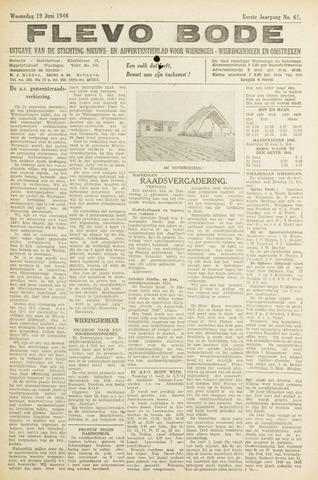 Flevo-bode: nieuwsblad voor Wieringen-Wieringermeer 1946-06-19
