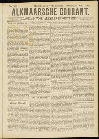 Alkmaarsche Courant 1905-11-27