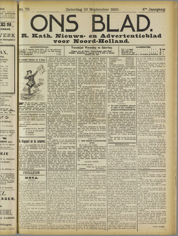 Ons Blad : katholiek nieuwsblad voor N-H 1910-09-10
