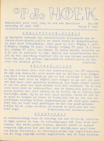 Op De Hoek, weekblad voor Akersloot 1956-06-30
