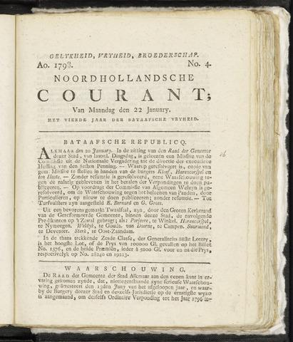 Noordhollandsche Courant 1798-01-22
