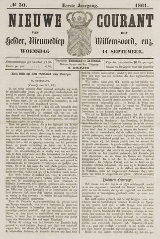 Nieuwe Courant van Den Helder 1861-09-11