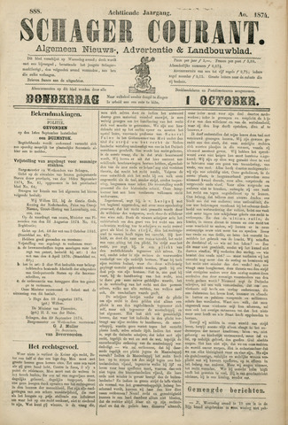 Schager Courant 1874-10-01