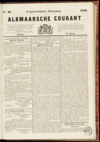 Alkmaarsche Courant 1863-03-29