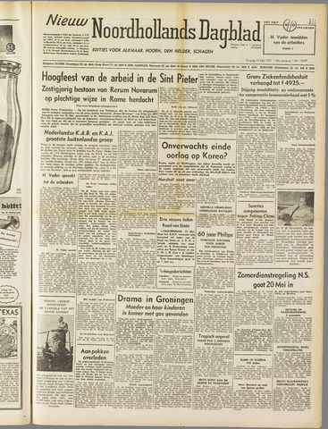 Nieuw Noordhollandsch Dagblad : voor Alkmaar en omgeving 1951-05-15