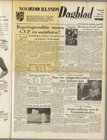 Noordhollands Dagblad : dagblad voor Alkmaar en omgeving 1954-04-13