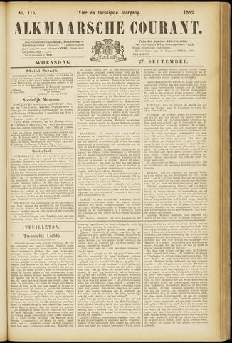 Alkmaarsche Courant 1882-09-27