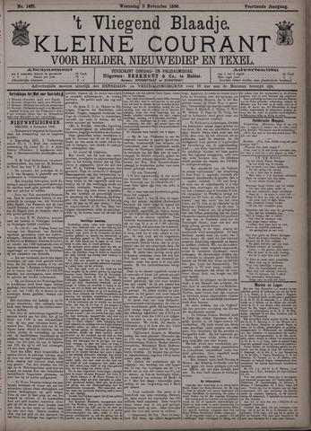 Vliegend blaadje : nieuws- en advertentiebode voor Den Helder 1886-11-03