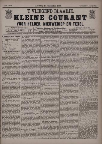 Vliegend blaadje : nieuws- en advertentiebode voor Den Helder 1884-09-27