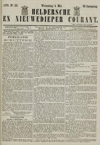 Heldersche en Nieuwedieper Courant 1870-05-04