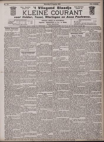 Vliegend blaadje : nieuws- en advertentiebode voor Den Helder 1903-08-19