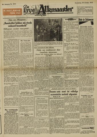 De Vrije Alkmaarder 1947-10-30