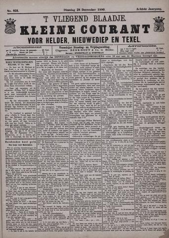 Vliegend blaadje : nieuws- en advertentiebode voor Den Helder 1880-12-28